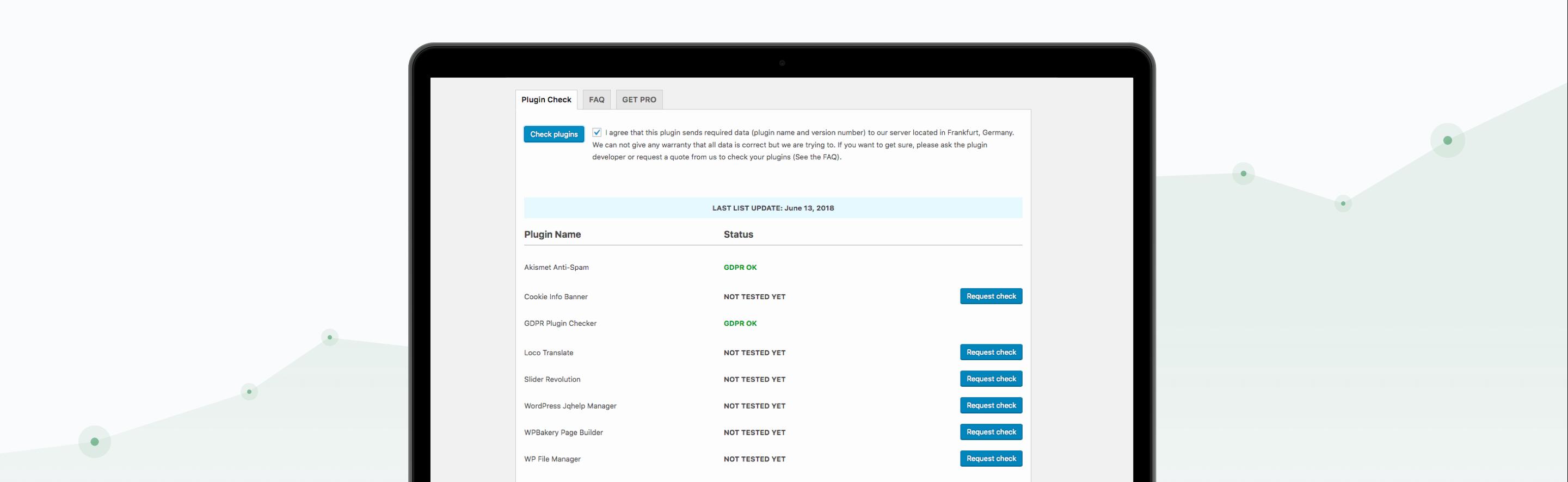 WordpressPlugin-GDPR-Checker